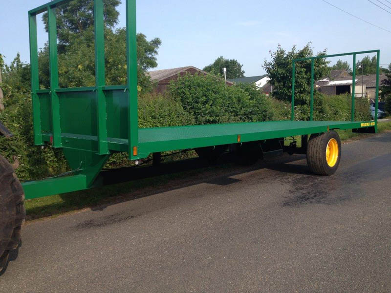 25ft Single Axle Bale Flatbed Trailer