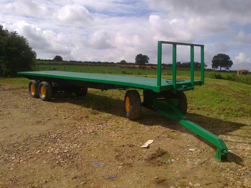 36ft 6 wheel bale flatbed trailer