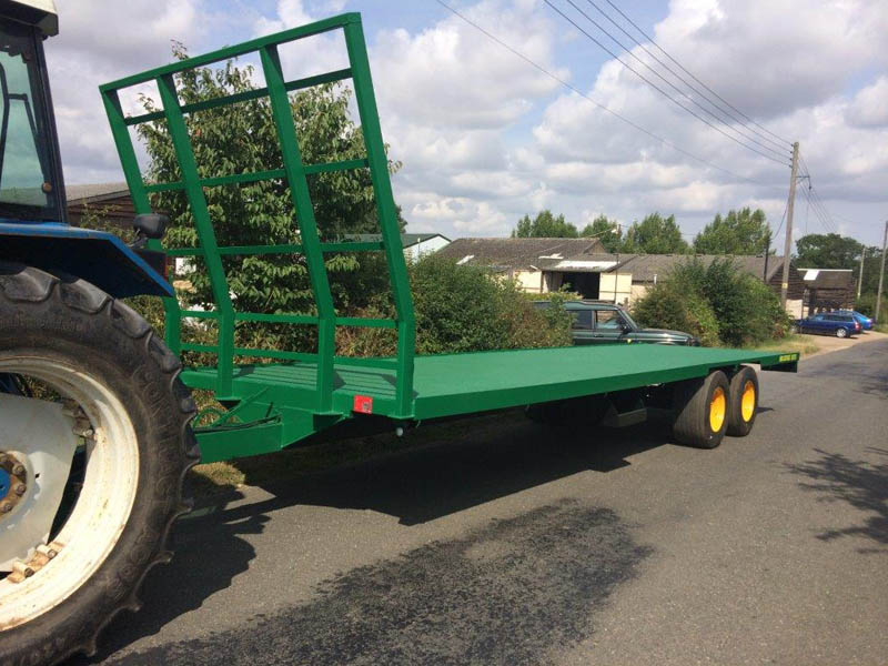 Gibson bale flatbed trailer