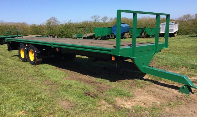 32ft bale trailer with super singles